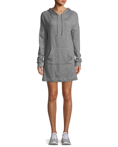 Hood Times Mini-Length Sweatshirt Dress