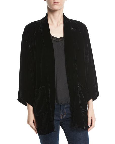 Ivy Reversible Velvet Jacket, Plus Size