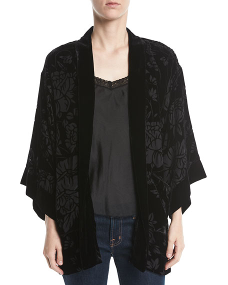 Johnny Was Ivy Reversible Velvet Jacket, Plus Size
