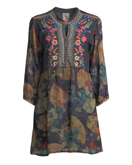 Fusai Floral-Print Tunic Dress