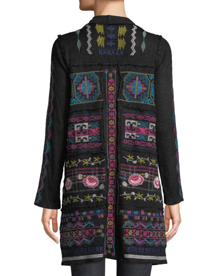 Gyrot Patchwork Embroidered Wrap
