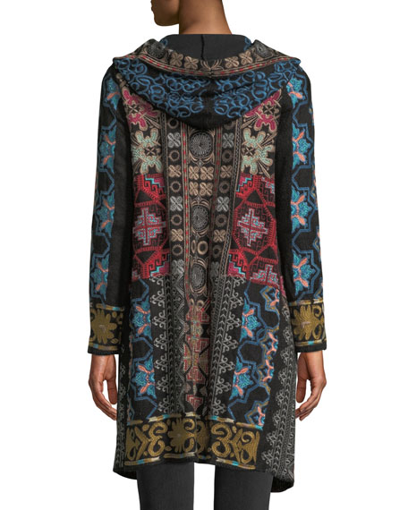 Tulum Hooded Duster with Embroidery