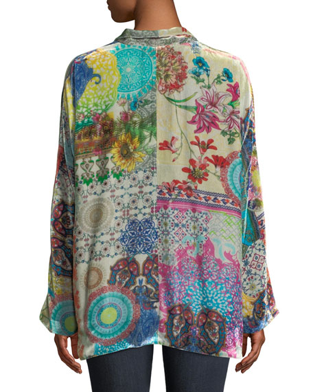 GG Velvet Kimono Jacket