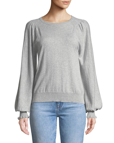 Edenka Blouson-Sleeve Sweater