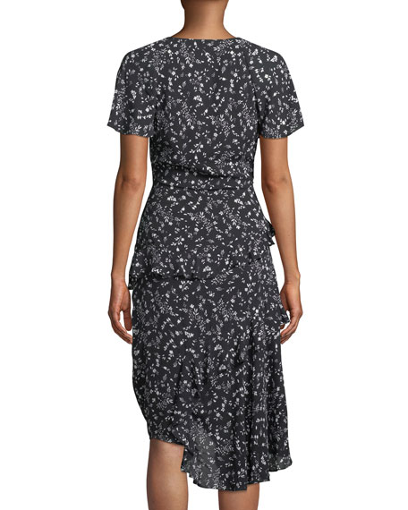 Orita Ditsy Floral-Print Ruffle Midi Dress
