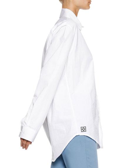 Button-Down Long-Sleeve Cotton Poplin Shirt