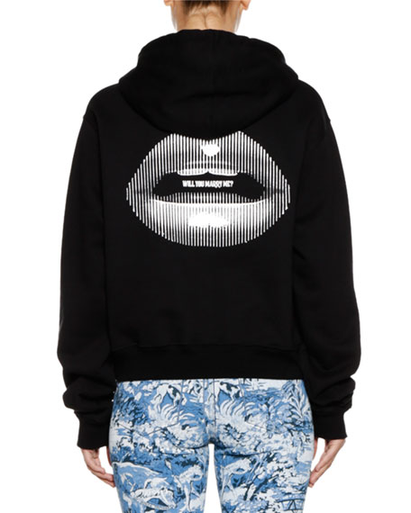 Lips Cotton Hoodie Jacket