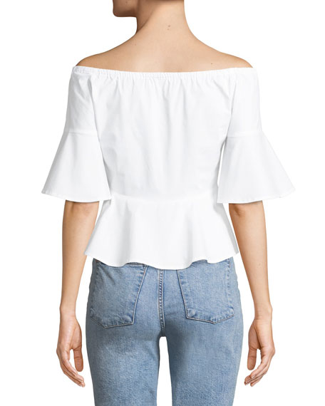 Ulmera Cropped Off-the-Shoulder Top