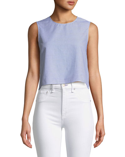 5549d27f8fb8b Club Monaco Caleigh Cropped Button-Back Top