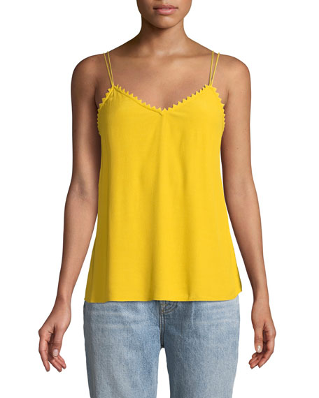 BA&SH Fox Strappy V-Neck Cami Top in Yellow