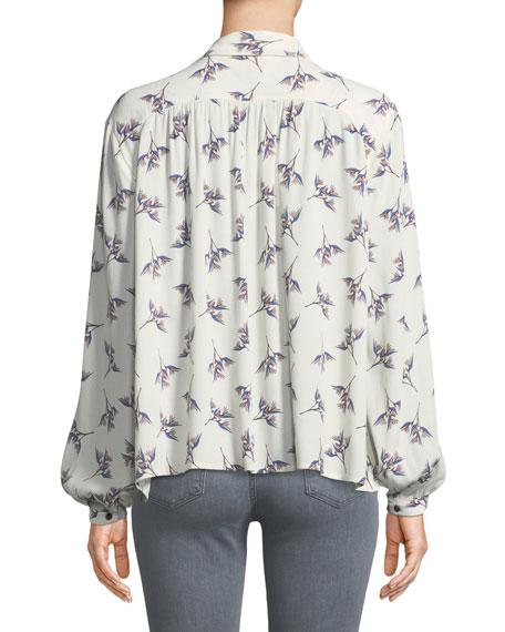 Fausta Floral Button-Front Blouse