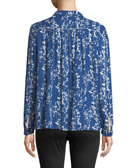Fiona Floral-Print Button-Front Shirt