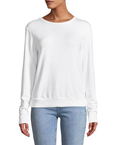 Bardot Lace-Up Back Pullover Sweatshirt