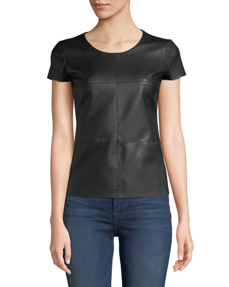 Bailey 44 Hardy Tee with Faux-Leather Front