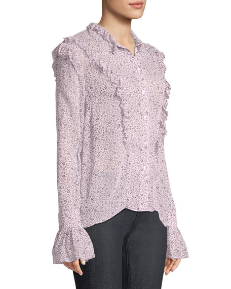 Tweet Goa Ditsy Floral Button-Front Blouse