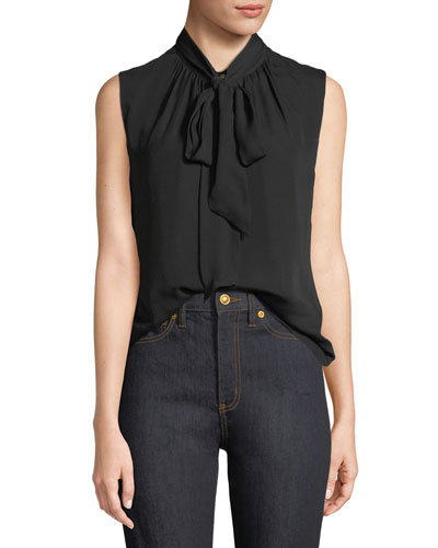 Zoe Sleeveless Silk Top