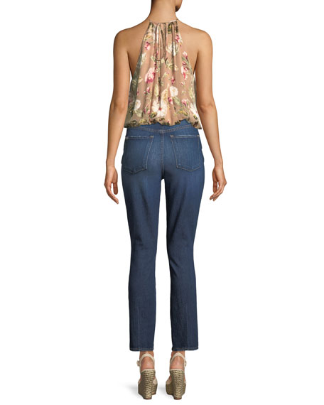 Good High-Rise Front-Split Skinny Jeans