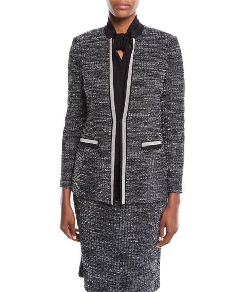 Misook Tweed Knit Jacket, Petite