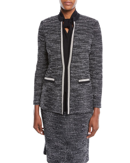 Misook Tweed Knit Jacket, Plus Size