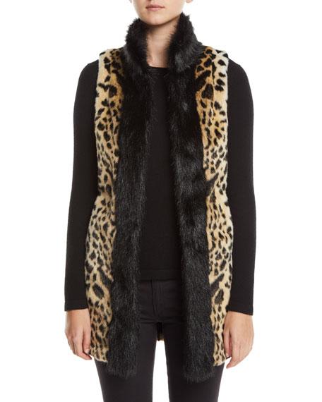 Fabulous Furs CHEETAH-PRINT FAUX-FUR STROLLER VEST