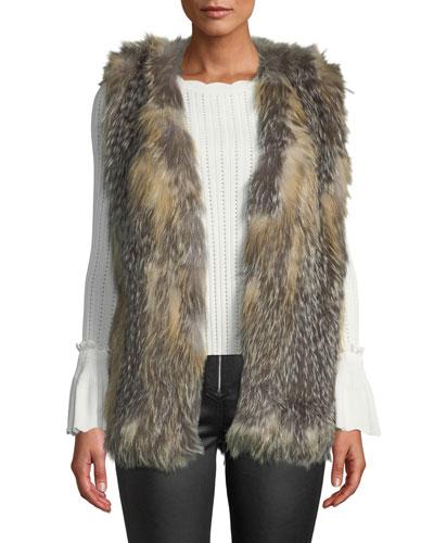 Mid Length Fur Vest
