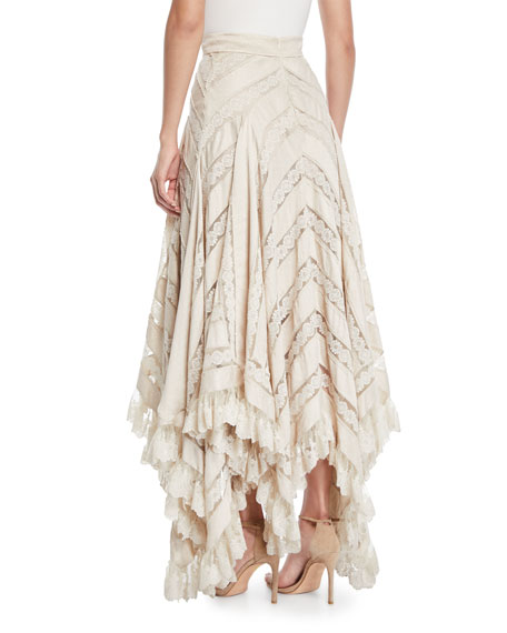 Unbridled Chevron Panel Lace Skirt