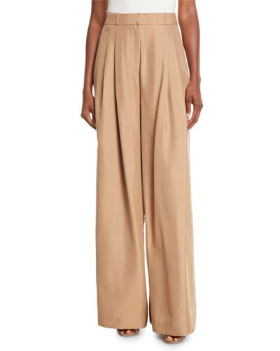 Unbridled Wide-Leg Silk Pants
