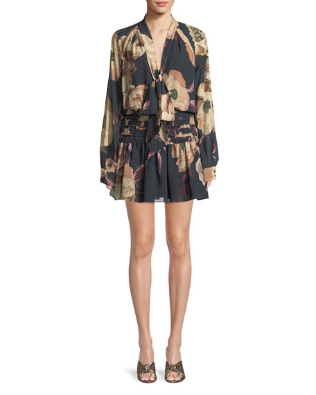 Mariposa Mini Dress in Floral Print