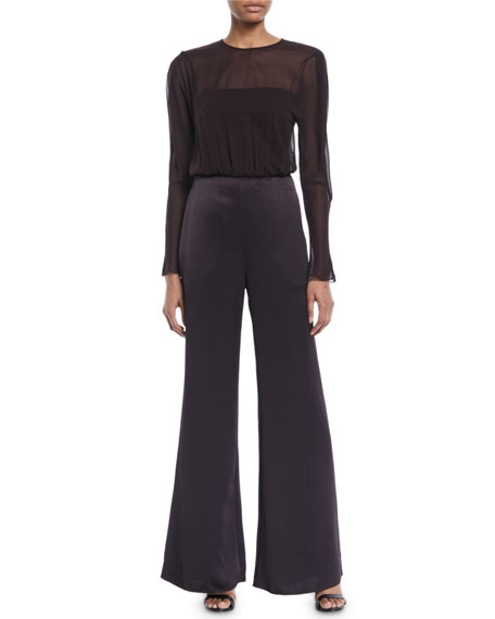 CAMILLA AND MARC Henderson Sheer Long-Sleeve Jumpsuit