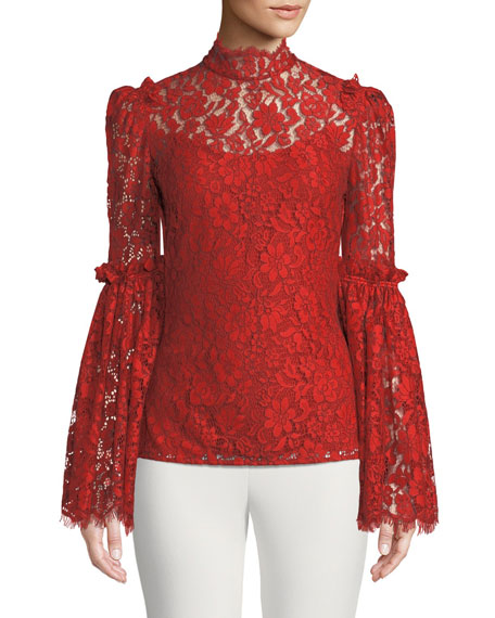 Clemence Scalloped Lace Top