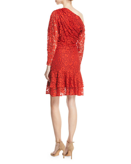 Clemence Off-Shoulder Lace Dress