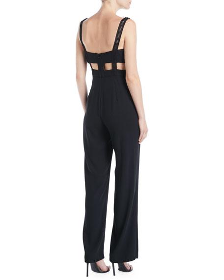 Crepe & Lace Sleeveless Jumpsuit