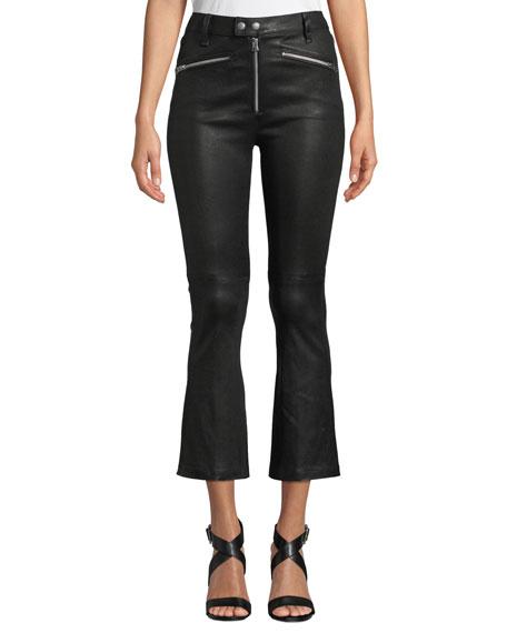 rag & bone/JEAN Braxton Faux-Leather Cropped Pants