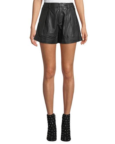 Editha High-Rise Leather Shorts