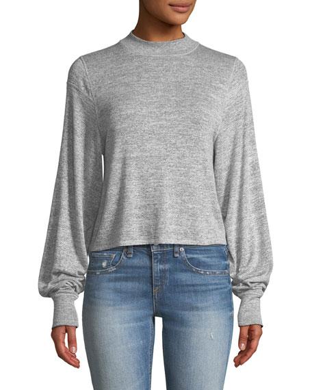 Bigsby Mock-Neck Long-Sleeve Top