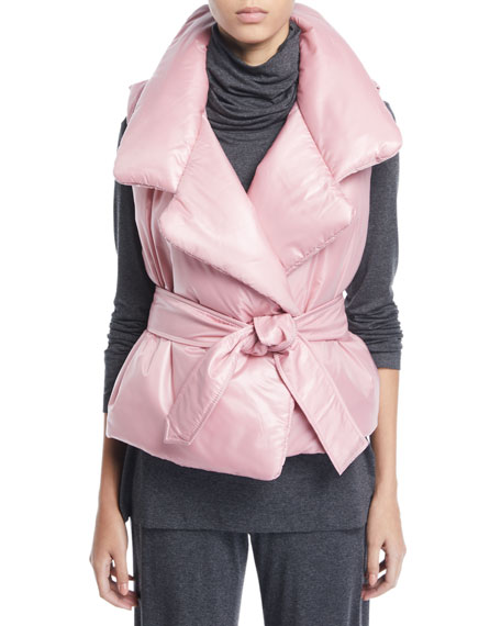 Sleeping Bag Open-Front Puffer Vest