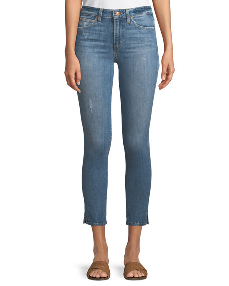 The Icon Cropped Skinny Jeans w/ Split Hem