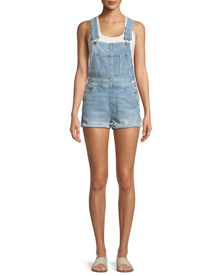 Joe's Jeans The Short Frayed Denim Overalls