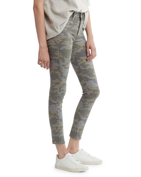 Barbara High-Rise Camo-Print Skinny Jeans