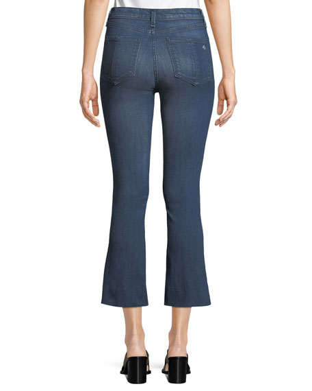 Hana High-Rise Slim Boot-Cut Cropped Jeans