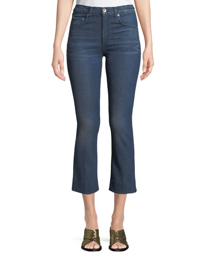 Hana High-Rise Slim Boot-Cut Cropped Jeans