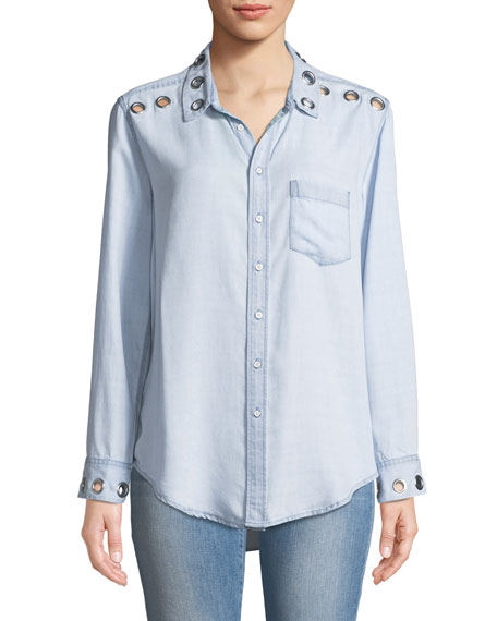 DL1961 Premium Denim Nassau Manhattan Chambray Shirt