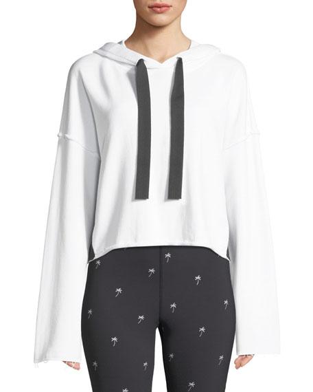 Alala Stance Side-Stripe Cropped Hoodie Sweatshirt