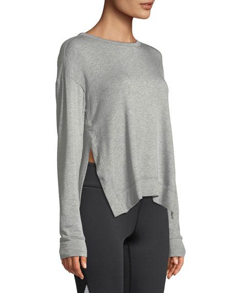 Heron Mesh-Back Crewneck Sweatshirt