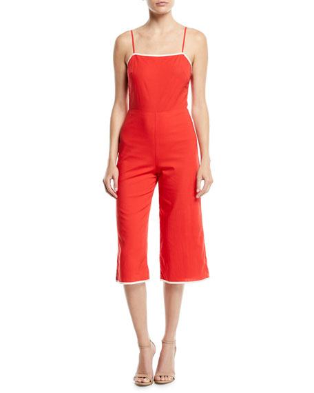 Isabeli Sleeveless Wide-Leg Cropped Jumpsuit