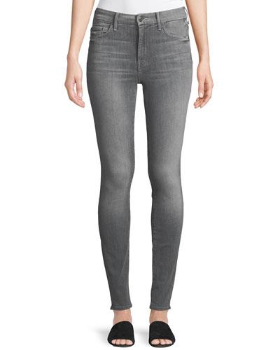 Looker High-Waist Faded Skinny Jeans