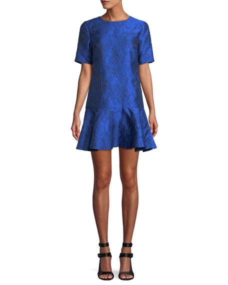 Esther Floral Flounce Mini Dress