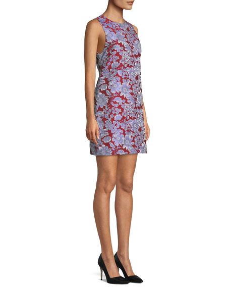 Coley Sleeveless Floral Crewneck Mini Dress