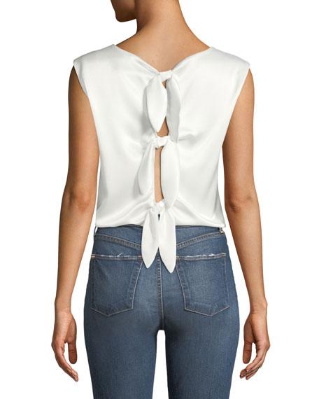 Fleta Boxy Tie-Back Sleeveless Top