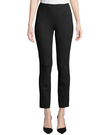 Ponte Slim-Leg Pants, Plus Size